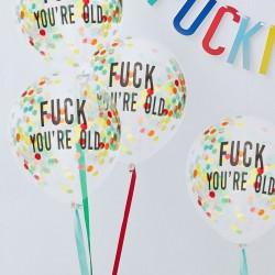 Naughty Party Confetti Balloons