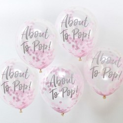 About To Pop! Pink Confetti Balloons