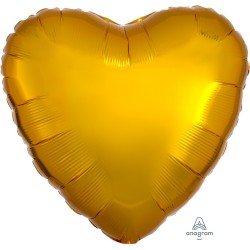Metallic Gold Heart Balloon