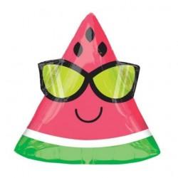 Watermelon With Sunglasses Junior Shape Foil Balloon