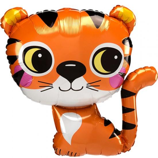 "Tiger Super Shape Foil Balloon 25"""