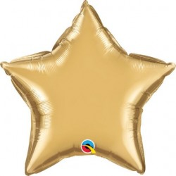 Star Chrome Gold Foil Balloon 20""