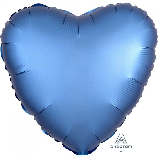 Azure Heart Satin Balloon