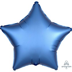 Azure Star Satin Balloon
