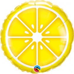 """Sliced Lemon Foil Balloon 18"""""""