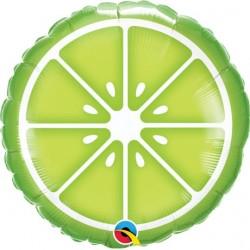 """Sliced Lime Foil Balloon 18"""""""