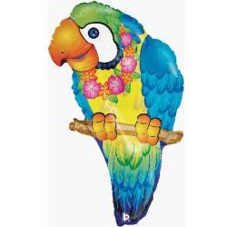 "Tropical Parrot Foil Balloon 29"""