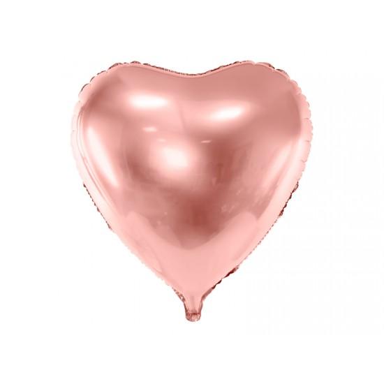 Rose Gold Heart Foil Balloon, 72 x 73 cm (28 x 28.5 '')