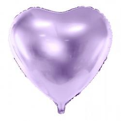 """Lilac Heart Foil Balloon 45cm (18"""")"""