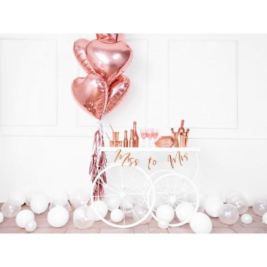 "Rose Gold Heart Foil Balloon 45cm (18"")"
