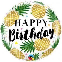 """Golden Pineapple Foil Balloon 18"""""""