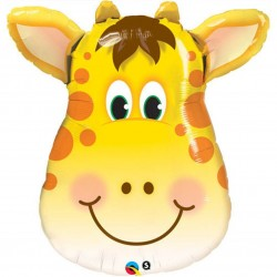 "Giant Jungle Zoo Animal Giraffe Foil Balloons 32"""