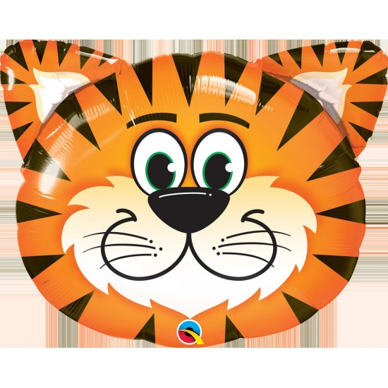 """Giant Jungle Zoo Animal Tiger Foil Balloons 30"""""""