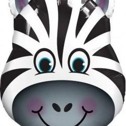 "Giant Jungle Zoo Animal Zebra Foil Balloons 32"""