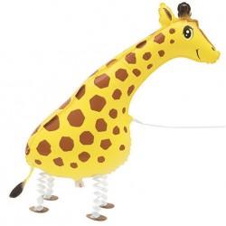 Walking Pet Giraffe Foil Helium Balloon 86cm