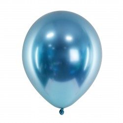 10 Blue Glossy Party Balloons