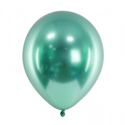10 Green Glossy Party Balloons