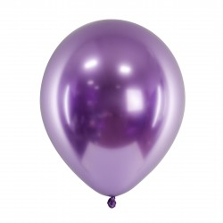 10 Violet Glossy Party Balloons