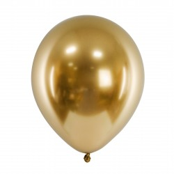 10 Gold Glossy Party Balloons