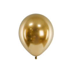 6 Gold Glossy Party Balloons