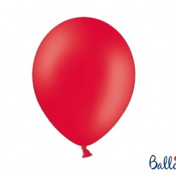 10 Poppy Red Latex Balloons