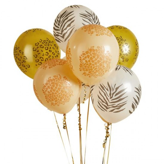 9 Safari Party Balloons