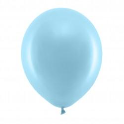 10 Pastel Light Blue Latex Balloons