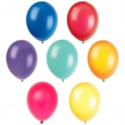 "10 Multi Coloured 12"" Latex Balloons, Birthday Balloons"