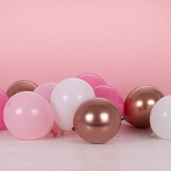 40 Blush And Rose Gold Balloon Mosaic Balloon Pack 5""