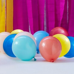 40 Multi Coloured Balloon Mosaic Balloon Pack 5""
