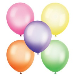 10 Assorted Colours Neon Latex Balloons