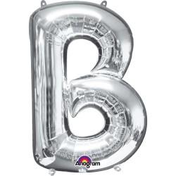 Letter B Silver