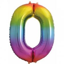 Number 0 Rainbow Splash