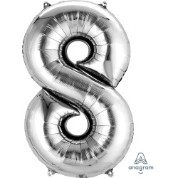 Number 8 Silver