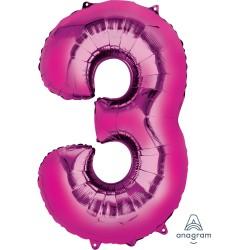 Number 3 Pink