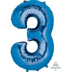 Number 3 Blue