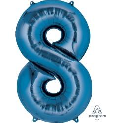Number 8 Blue
