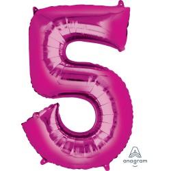 Number 5 Pink