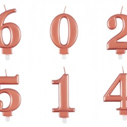 Rose Gold Number Candles