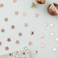 Rose Gold Foiled Star Confetti