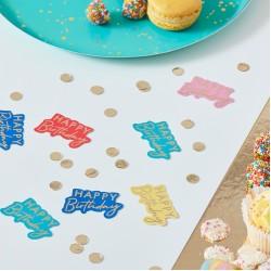 Multi-Coloured Happy Birthday Table Confetti
