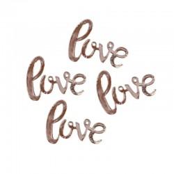 Rose Gold Love Wedding Confetti