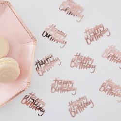 Rose Gold Happy Birthday Confetti