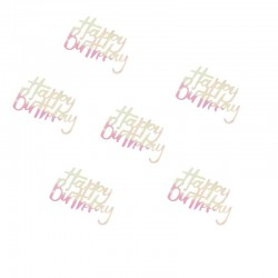 Iridescent Birthday Table Confetti