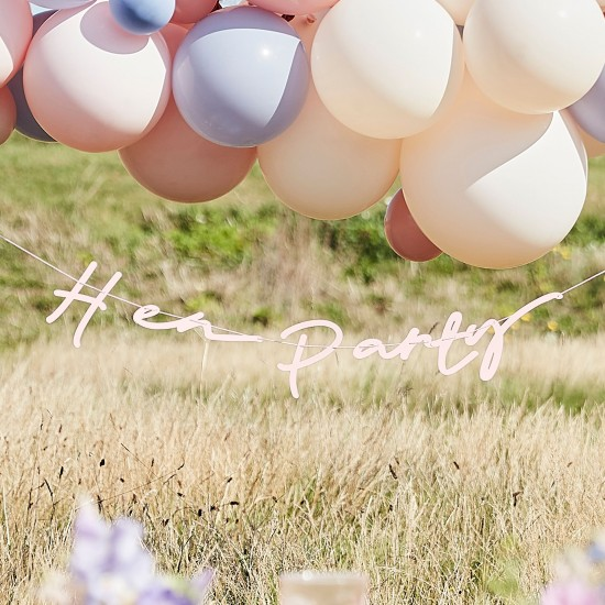 Pink Boho Eco Hen Party Bunting