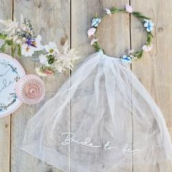 Boho Floral Bride To Be Veil