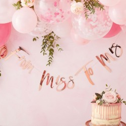 From Miss To Mrs Hen Party Bunting