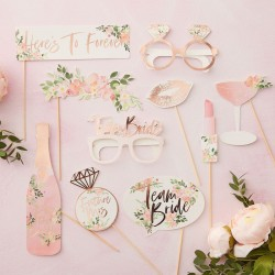 Floral Hen Photo Booth Props