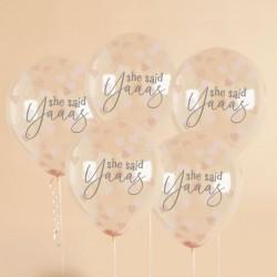 She Said Yaaas Confetti Balloon
