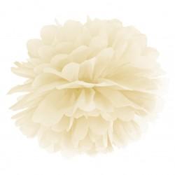 Cream Tissue Paper Pompom